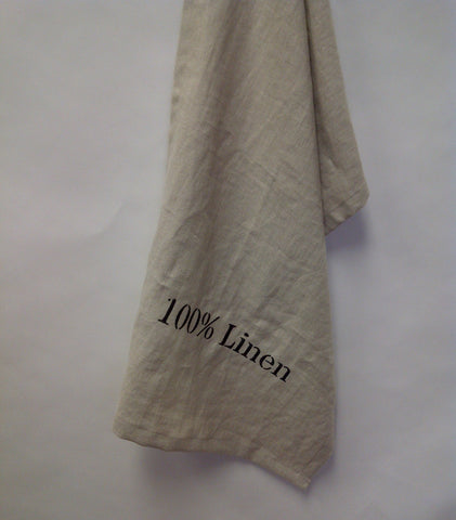 """100% Linen"" Linen Tea Towel"