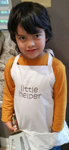 little helper kid apron