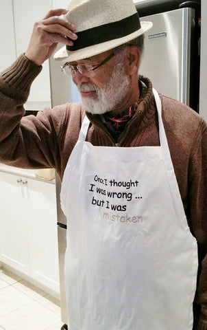 Once I thought I was wrong Apron