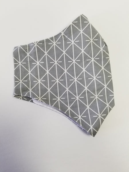 Face Mask Diamond Grey