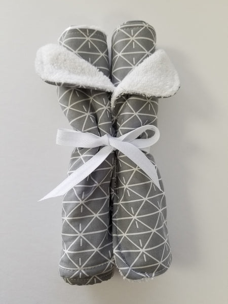 Diamond Grey Burp Cloth set/2