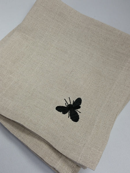 Bee Linen Napkin Set/4