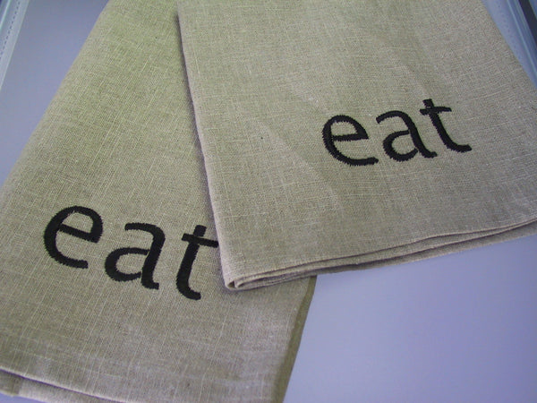 Eat Linen Napkin Set/4