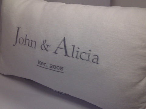 Established White Linen Pillow Casual Style