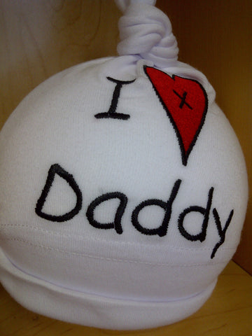 I Love Daddy Baby Hat