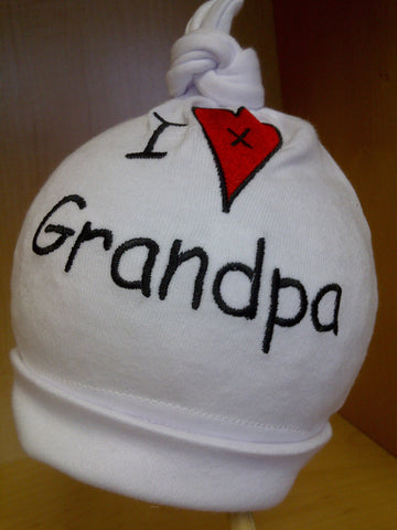 I Love Grandpa Baby Hat