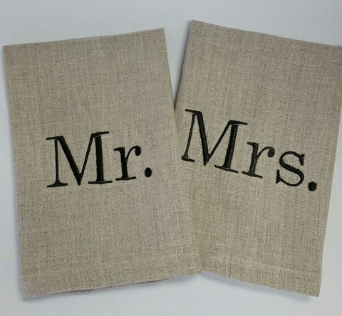 Mr. or Mrs.  Linen Tip Towel