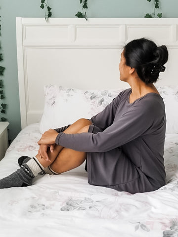 SAVEE Modal Long Sleeve Nightgown