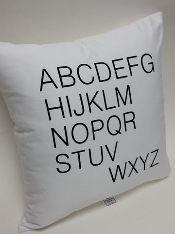 Alphabet Cotton  Pillow