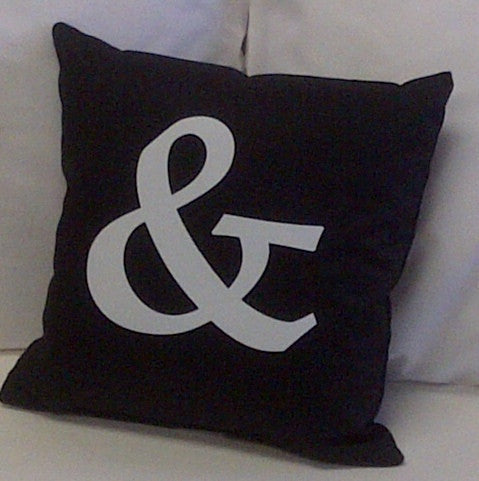 "Ampersand 14"" Cotton Pillow"