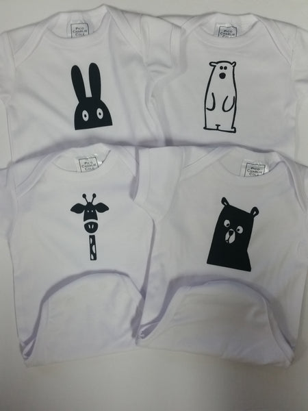 Animal Heat Pressed Baby One Pieces