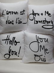 You + Me Lovestory Bed Love Pillow Cover