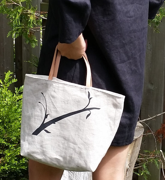 Linen Branch Tote