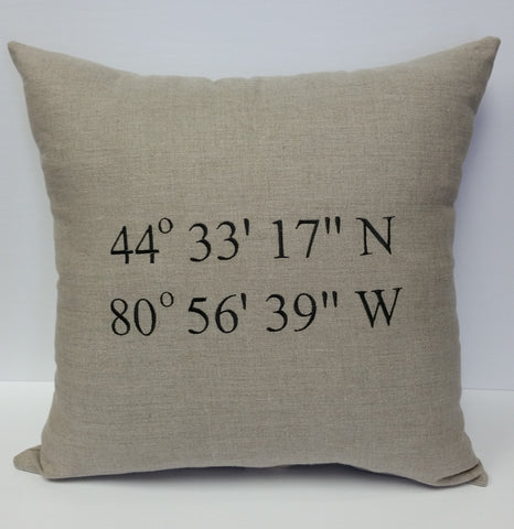 Coordinates Custom Linen Pillow