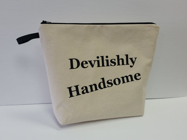 Devilishly Handsome Natural Pouch Toiletry Bag