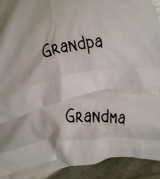 Grandma Grandpa Pillowcase Set