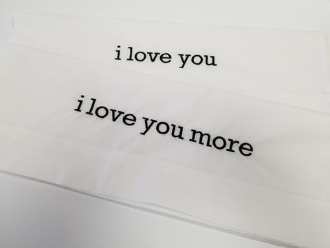 I Love You/I Love More Pillowcase Set