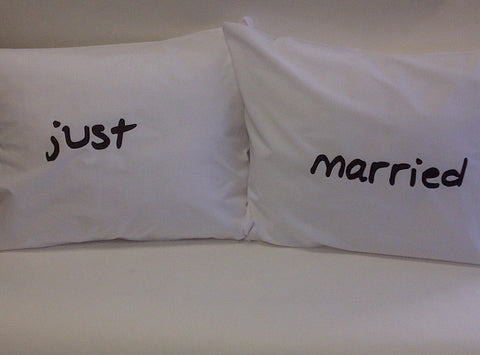 Just Married Pillowcase Set