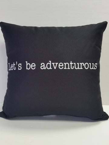 Let's be adventurous Cotton Pillow