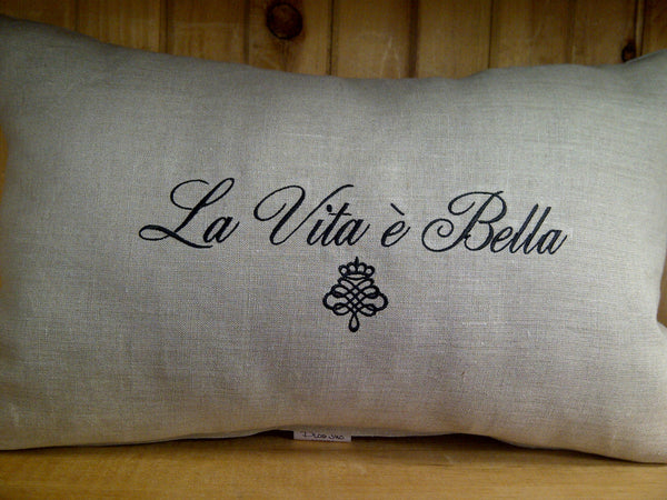 La Vita e Bella Linen Pillow