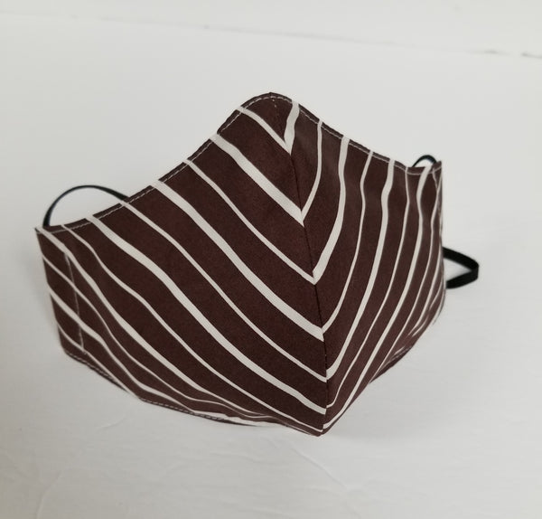 Face Mask Brown Stripe
