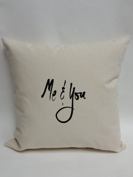 Me & You Cotton Canvas Pillow