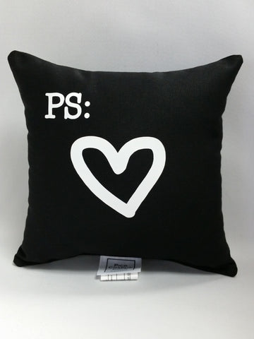 P.S. Heart Mini Pillow