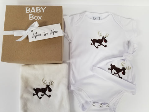 Morrie the Moose  Baby Box