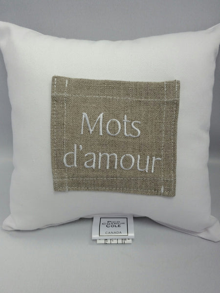Mots d'amour Pocket Pillow