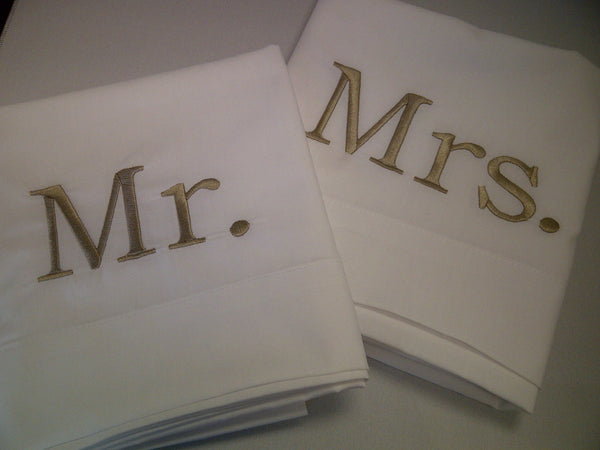 Mr. and Mrs. Pillowcase Set