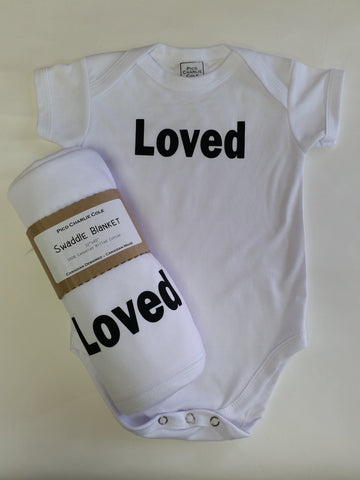 LOVED One Piece + Swaddle Blanket Set