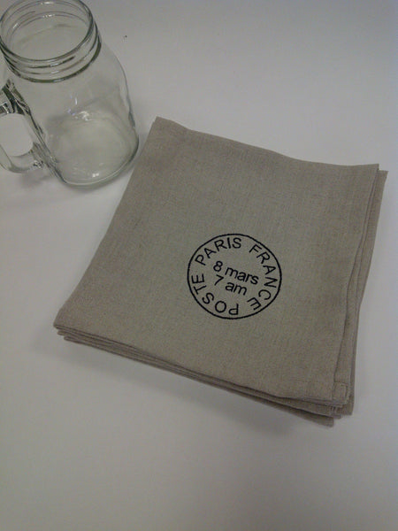 French Poste Linen Napkin Set/4
