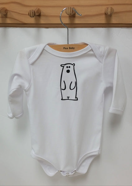 Polar Bear Long Sleeve Baby One Piece