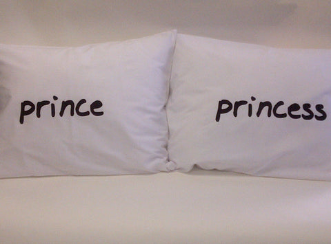 Prince & Princess Pillowcase Set