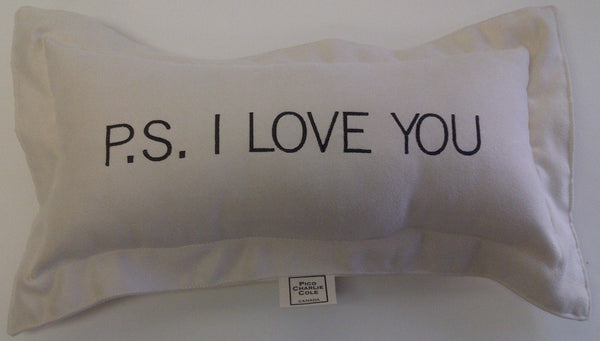 P.S. I LOVE YOU Mini UltraSuede Pillow