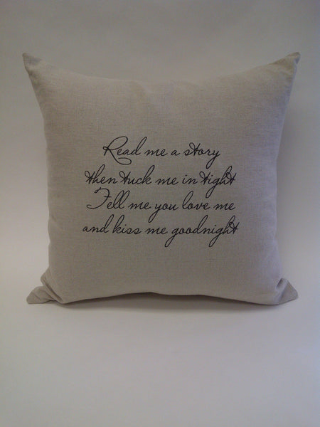 Read me a story...Linen Pillow