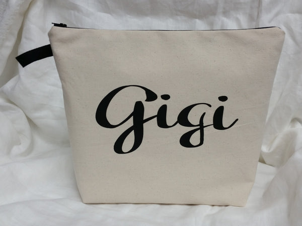 Custom Name  Large Pouch Toiletry Bag