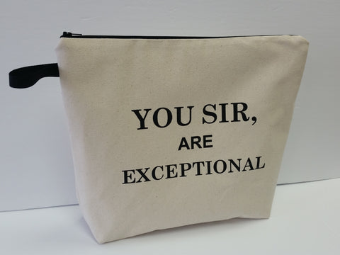 You Sir are Exceptional Natural Pouch Toiletry Bag