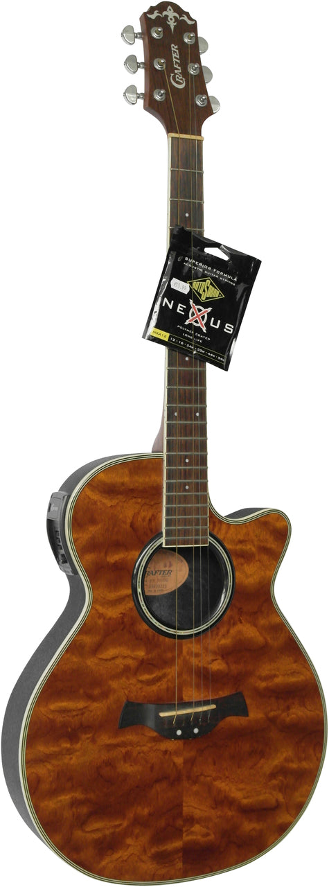 Crafter FX550EQ Electro-Acoustic Guitar With Rounded Back.