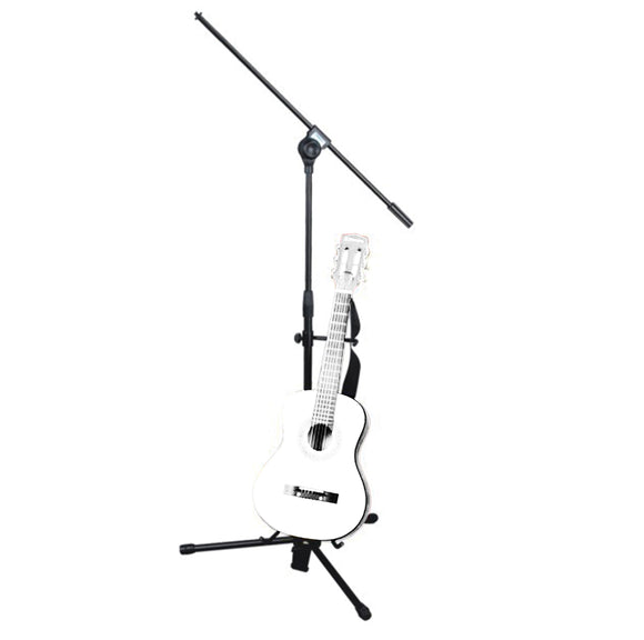 Microphone Stand With Guitar Stand Attached