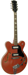 Old Japan Hollow Body Electric Guitar Red
