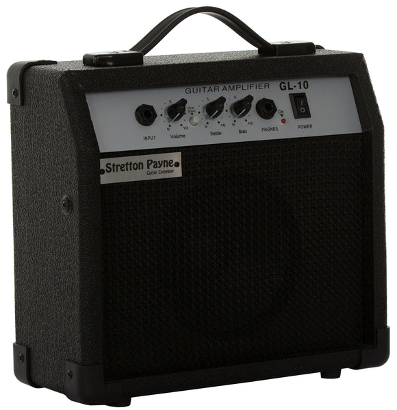 Stretton Payne Electric Guitar Amplifier With Overdrive Distortion EQ Headphone Socket 6.35mm Standard Guitar Input