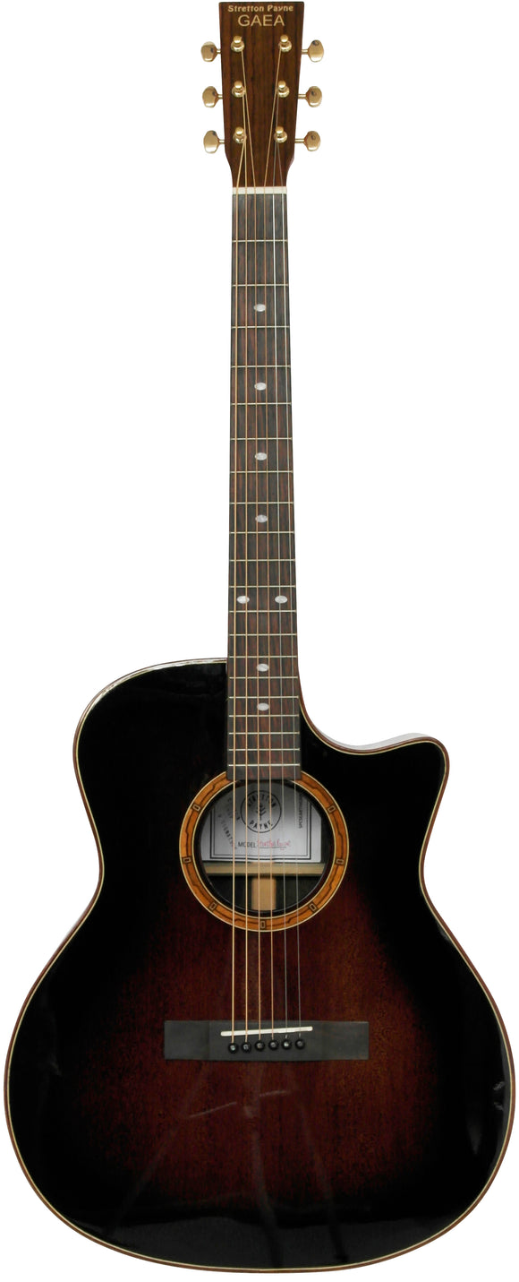 Stretton Payne Custom Shop EARTH G300 Grand Auditorium Acoustic Guitar, Size 41 inches, Solid Cedar Top, Rosewood Back, Rosewood Sides. Cutaway body.