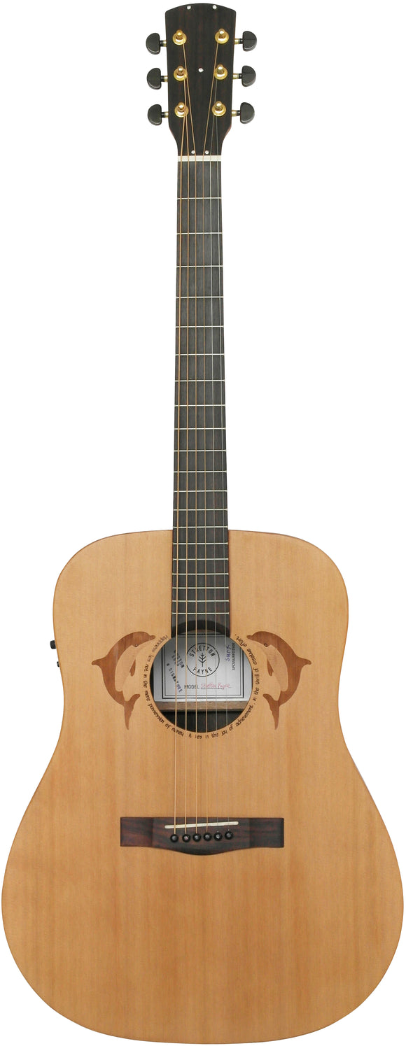 Stretton Payne Custom Shop SURF D350E Dreadnought Acoustic Guitar, Size 41 inches, Solid Spruce Top, Rosewood Back, Rosewood Sides. Electro Acoustic plug in pick-up.