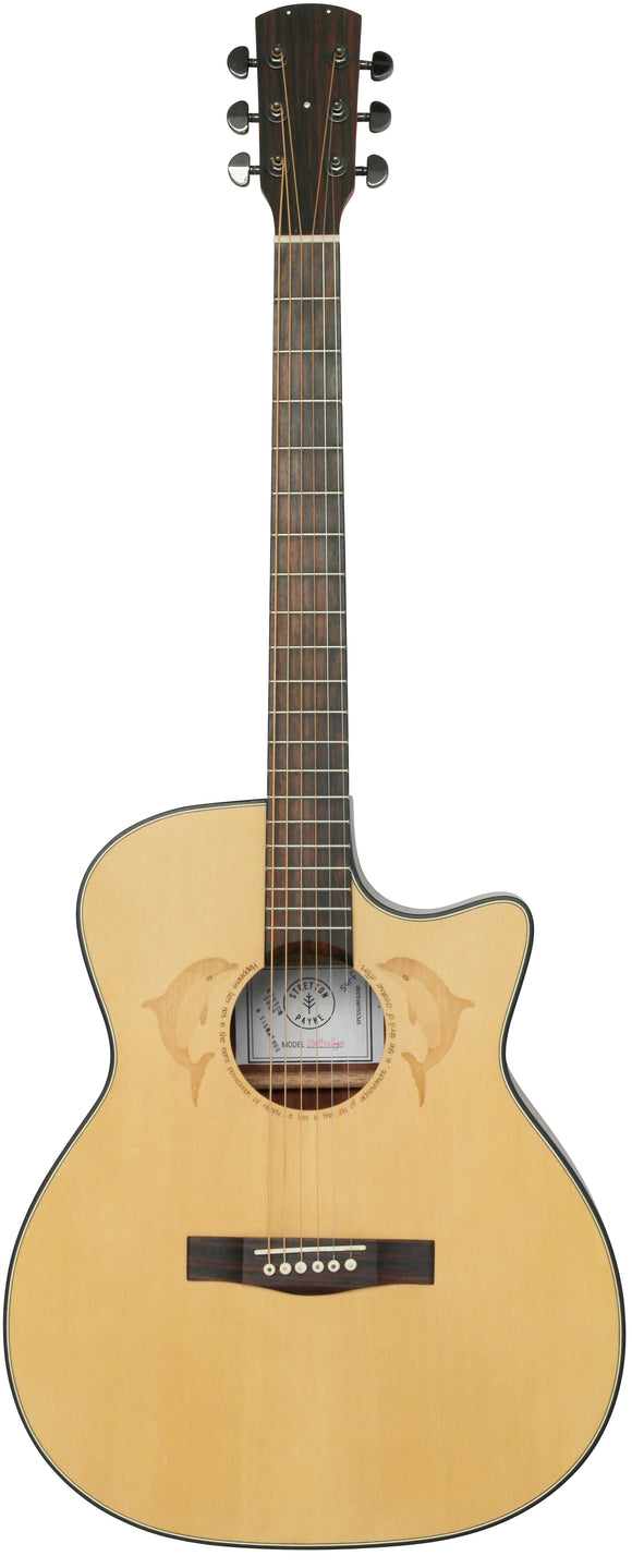 Stretton Payne Custom Shop SURF G200 Grand Auditorium Acoustic Guitar, Size 41 inches, Solid Spruce Top, Mahogany Back, Mahogany Sides. Cutaway body.