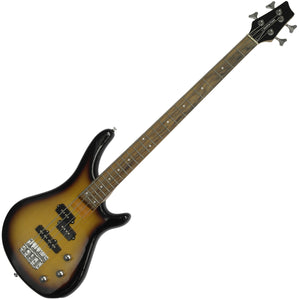 Stretton Payne Electric BASS Guitar S1-Bass Maple Neck, Darkwood Fretboard. Full Package with practice amp and accessories. Bass Guitar in Sun Burst
