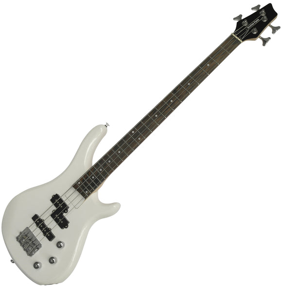 Stretton Payne Electric BASS Guitar S1-Bass Maple Neck, Darkwood Fretboard. Full Package with practice amp and accessories. Bass Guitar in White