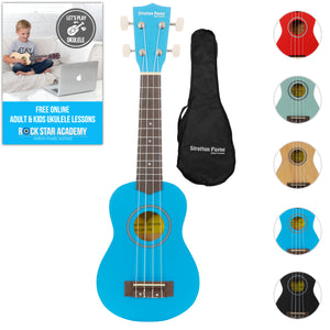 Soprano Ukulele Lake Placid Blue with Gig Bag and Online Ukulele Course