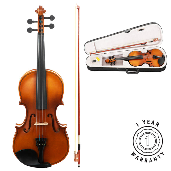 Stretton Payne Violin Outfit Full Size 4/4 Acoustic Superior Student Violin with Case, Bow and Rosin