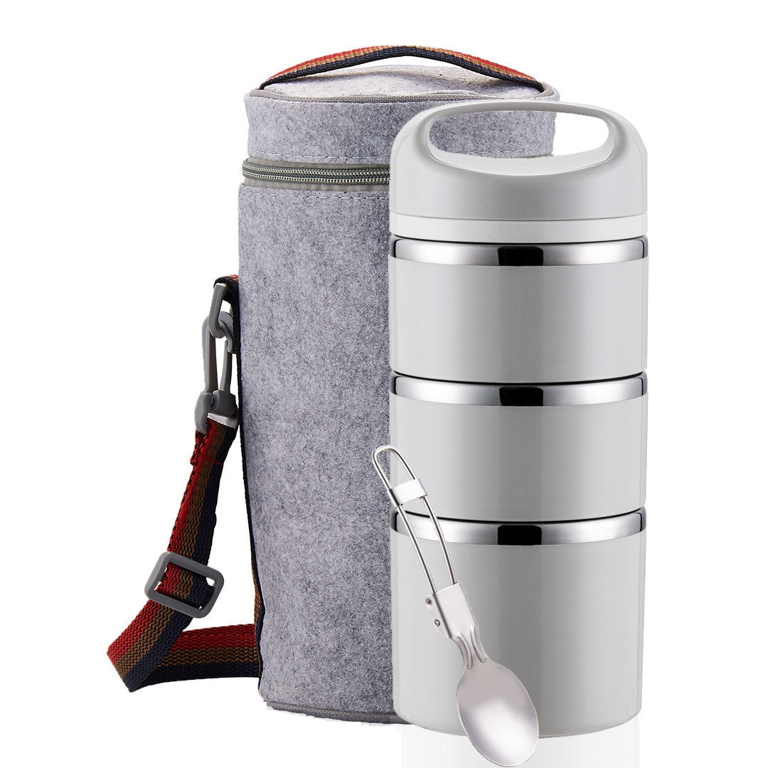 stainless steel stackable thermal bento lunch box
